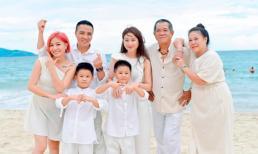 Vợ chồng BTV Nguyễn Hoàng Linh tận hưởng kỳ nghỉ dưỡng hạnh phúc bên gia đình