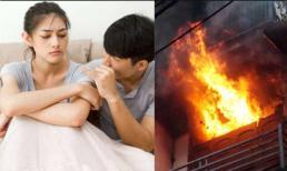 Đi làm về thấy nhà cháy ngùn ngụt, vợ hốt hoảng thì chồng mếu máo: 'Xin lỗi em, do anh… đốt!'