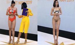Body Tường Linh, Đào Hà và dàn thí sinh Hoa hậu Hoàn vũ miền Bắc trong ảnh bikini chưa photoshop ra sao?