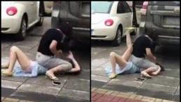 Vô tình gặp 'tiểu tam' trên đường, 'chính thất' lao vào đánh ghen kinh hoàng
