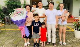 Hải Băng đưa ba con đến chúc mừng 50 năm ngày cưới của bố mẹ chồng