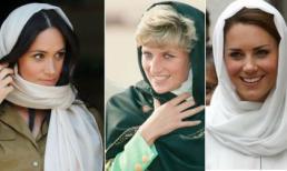 Công nương Meghan học đòi chị dâu Kate và mẹ chồng quá cố đội khăn trùm đầu kiểu Hồi giáo nhưng lại nhận cái kết đắng