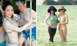 Hoa hậu Hà Kiều Anh diện bikini gợi cảm khi cùng gia đình và Giáng My đi du lịch Palau
