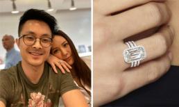 Khoe nhẫn kim cương ở ngón áp út, Hoa hậu Thu Hoài đã đồng ý lời cầu hôn của bạn trai?