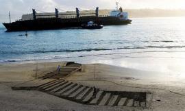 Biến bãi biển hoang thành tranh 3D sống động