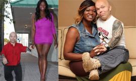 Người lùn khỏe nhất thế giới yêu cô nàng chuyển giới cao 1,82m