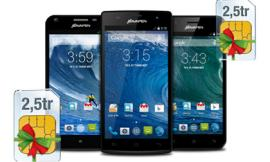 Mua smartphone Bavapen tặng sim khủng tài khoản 2,5 triệu