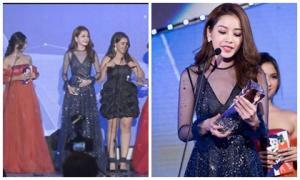 Chi Pu xuất sắc đoạt giải 'Gương mặt phim mạng' tại WebTV Asia Awards 2016