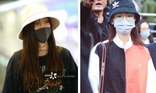 Angelababy và Ngô Cẩn Ngôn chọn style na ná nhau khi cùng đến Quảng Châu ghi hình