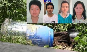 Giáp măt với 4 nghi can giết người phi tang xác ở Bình Dương