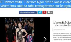 """Cuộc khẩu chiến với đồng nghiệp chưa dứt, Ngọc Trinh lại bị độc giả báo Pháp đòi tẩy chay vì quá """"lố bịch"""""""