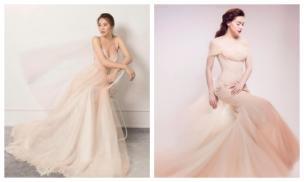 Giàu sụ nhưng Đàm Thu Trang chỉ chọn đầm cưới 30 triệu, lạ lùng hơn là nhìn na ná Hà Hồ
