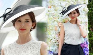 Lâm Chí Linh sang chảnh xuất hiện tại lễ hội đua ngựa Hoàng gia Anh sau khi tuyên bố kết hôn