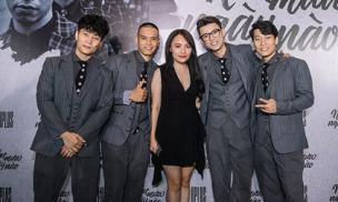 Nhật Thủy Idol sexy hút mắt khi tới chúc mừng nhóm bạn thân Oplus ra album mới