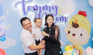 Vợ chồng Hoa hậu Thu Ngân tổ chức sinh nhật hoành tráng cho con