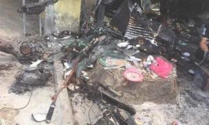 Mẹ đơn thân kể lại phút giây bị kẻ bịt mặt ném bom xăng đốt cửa hàng quần áo