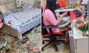 Căn phòng ngủ hơn cả một bãi rác của một nữ streamer khiến nhiều người chết khiếp