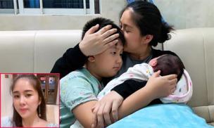 Con trai Lê Phương cư xử cực tình cảm, ra dáng anh cả sau khi mẹ sinh em bé