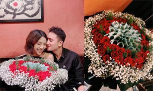 Tổ chức sinh nhật cho vợ chưa cưới, Phan Mạnh Quỳnh tặng bóa hoa khủng khiến chị em nào cũng mê