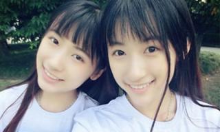 Hai chị em sinh đôi xinh như thiên thần, học lại cực giỏi