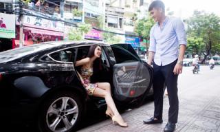 """Vợ chồng Công Vinh – Thủy Tiên gây """"náo loạn phố phường"""" với xế khủng"""