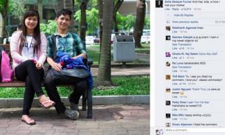 Bức ảnh cặp đôi Việt Nam gây cơn sốt trên trang fanpage nước ngoài nổi tiếng