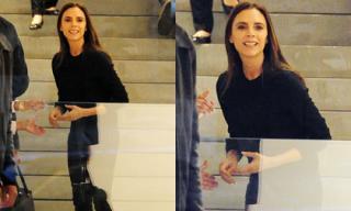 Victoria Beckham bất ngờ nở nụ cười thân thiện hiếm thấy