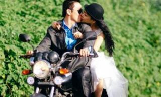 Ảnh cưới phượt bằng xe máy thú vị của cặp đôi yêu nhau 9 năm