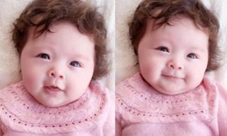 Con gái Elly Trần xinh như thiên thần với áo len hồng