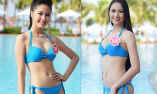 Thí sinh Hoa hậu Việt Nam 2014 đẹp khỏe khoắn với áo tắm