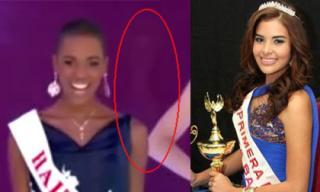 Clip: 'Bóng ma' HH Honduras xuất hiện trong đêm Chung kết 'Miss World 2014'