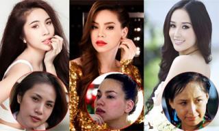 Đôi mắt vô hồn của mỹ nhân Việt khi chưa trang điểm