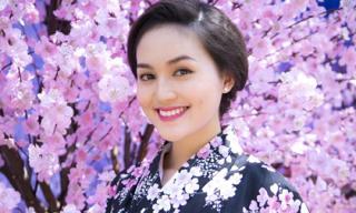 'Bản sao' Hoa hậu Diễm Hương xinh như gái Nhật