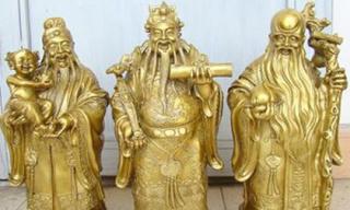 Cấm kị đặt tượng Phúc Lộc Thọ đuổi Tam tinh khỏi nhà