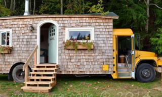 Ngắm ngôi nhà di động nhỏ xinh được 'chế' từ xe buýt