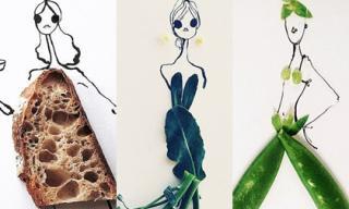 Váy phác thảo tuyệt đẹp từ thực phẩm 'gây sốt' tín đồ thời trang