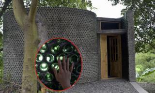 Ngôi nhà xây bằng hàng ngàn chai thủy tinh độc đáo