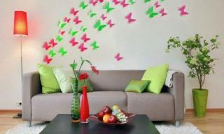 Thổi hồn nghệ thuật trang trí tường nhà với hình bướm
