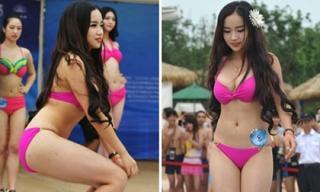 Thí sinh Miss Bikini Trung Quốc với màn tạo dáng 'nóng sân khấu'
