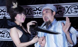 Lê Khánh dọa 'cắt cổ' Chí Tài trong hậu trường