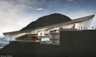 Kiến trúc độc đáo của bảo tàng trên đỉnh núi cao 2286m