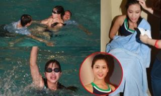 Thí sinh Hoa hậu Hồng Kông suýt chết đuối khi tham gia thi bơi