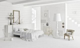 Không gian sống sáng bừng với nội thất màu trắng