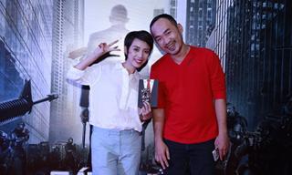 Diễn viên hài Thu Trang cùng chồng 'trốn' con đi xem phim