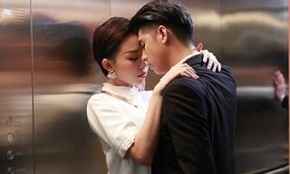 Noo Phước Thịnh âu yếm Tóc Tiên trong thang máy