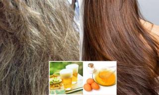 Tóc rụng, hư tổn biến thành tóc đẹp dễ dàng... với 10 công thức tự nhiên