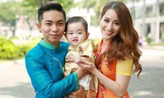 Con trai Khánh Thi - Phan Hiển xúng xính áo dài đón xuân