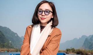 Tóc Tiên diện trang phục 'kín cổng cao tường' đi lễ chùa