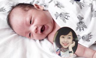 Ly Kute lần đầu khoe mặt con trai