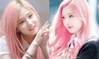 Mỹ nhân Hàn gây ấn tượng với tóc hồng cá tính